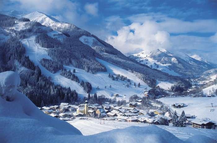 Skigebiet Saalbach Hinterglemm im Frühling