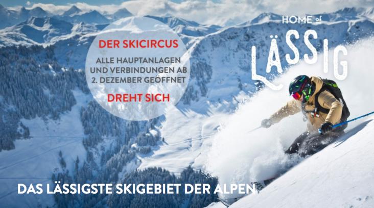 Der Skicircus Saalbach Hinterglemm Leogang Fieberbrunn startet in die Saison