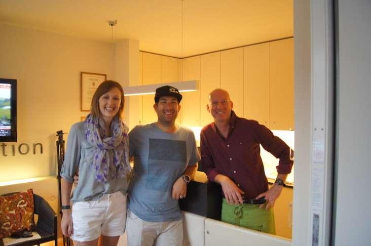 Die Neuseeländer Graeme und Donna im Hotel Talblick